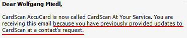 Cardscan macht auf Plaxo