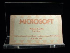 Gates' erste Visitenkarte