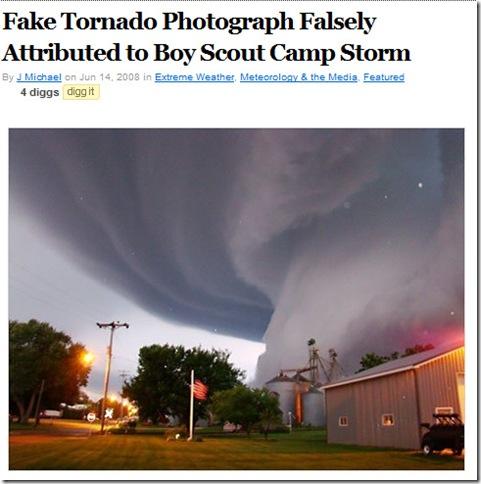 Auch die Welt fällt auf den Tornado-Fake herein